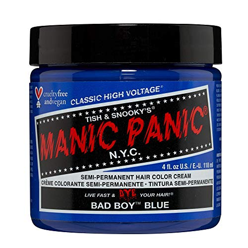 Manic Panic - Bad Boy Blue Classic Creme Vegan Cruelty Free Semi-Permanent Hair Colour 118ml