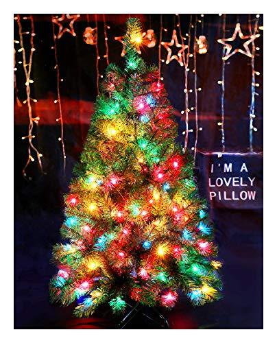 CASA CLAUSI Christmas Tree 4 Feet 100 pre-lit Multicolored Lights Artificial Green Tree