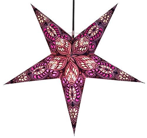 Papierstern Menor violett-natur / Leuchten & Sterne