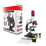 LQKYWNA Conjunto De Microscopio para Niños O Muestra Mixta Juguetes Educativos Laboratorio 1200X Zoom Ayuda A Los Niños A Explorar El Micro Mundo En El Hogar/Escuela (Microscope Set)
