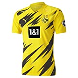PUMA Herren T-Shirt BVB Home Authentic Shirt SS w.Sponsor New, Cyber Yellow-Puma Black, 3XL, 931110