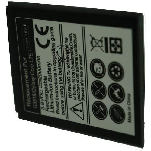 Batt OTech pour SAM G3518/Galaxy Core LTE 3.8V Li-Ion 2000mAh