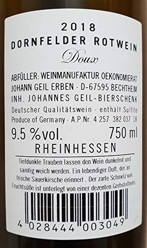 6-Flaschen-Dornfelder-Rotwein-2019-lieblichsuess-Oekonomierat-Johann-Geil-Erben-Reihnhessen-Deutscher-Wein