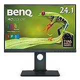 BenQ カラーマネジメントモニター ディスプレイ SW240 24.1インチ/1920 x1200/IPS/16:10/AdobeRGB 99%/DCI-P3 95%/キャリブレーション対応/AdobeRGB/写真編集用