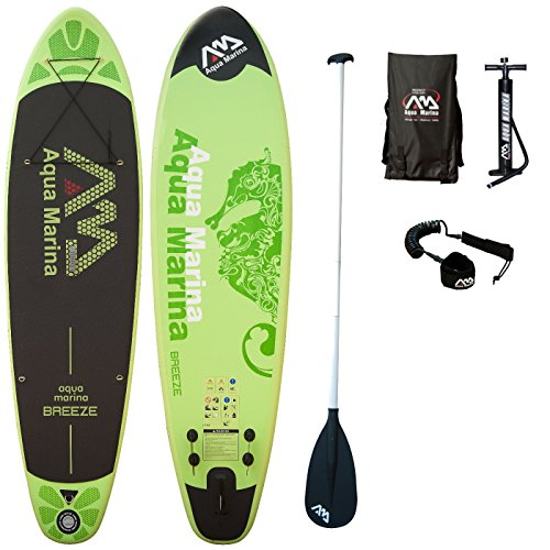 AQUA MARINA, BREEZE+ALU-Paddle+LEASH, Paddle Board, SUP, 300x75x10 cm
