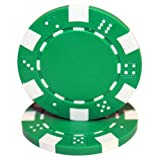Brybelly 50 Green Clay Composite Striped Dice 11.5 Gram Poker Chips