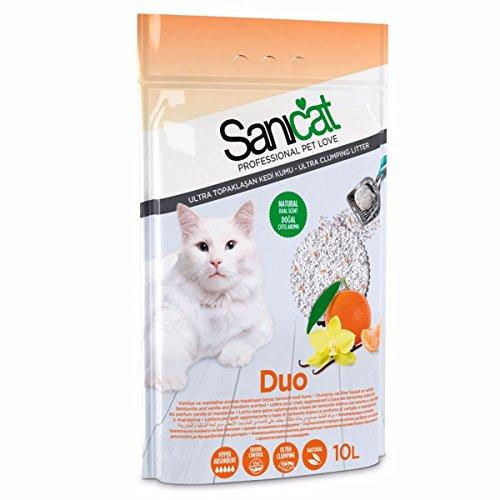 Sanicat Duo Lettiera per gatti, 10 l Lettiera agglomerante per gatti con due profumi.