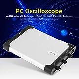 Osciloscopio VDS 1022I 100MSa / S 25M Osciloscopio de PC de aislamiento Osciloscopio USB virtual Longitud de registro de 5K con resorte de tierra de 2 uds