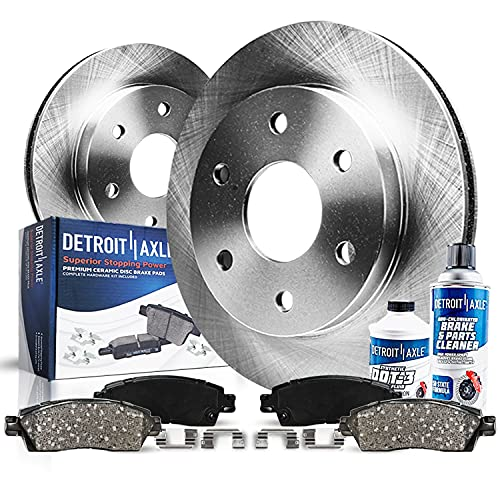 Detroit Axle - Front Disc Rotors + Brake...
