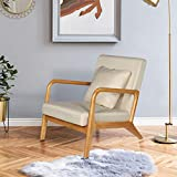 ELUCHANG Mid-Century Modern Accent Chairs, 25.6' x 30' x 30',Fabric...