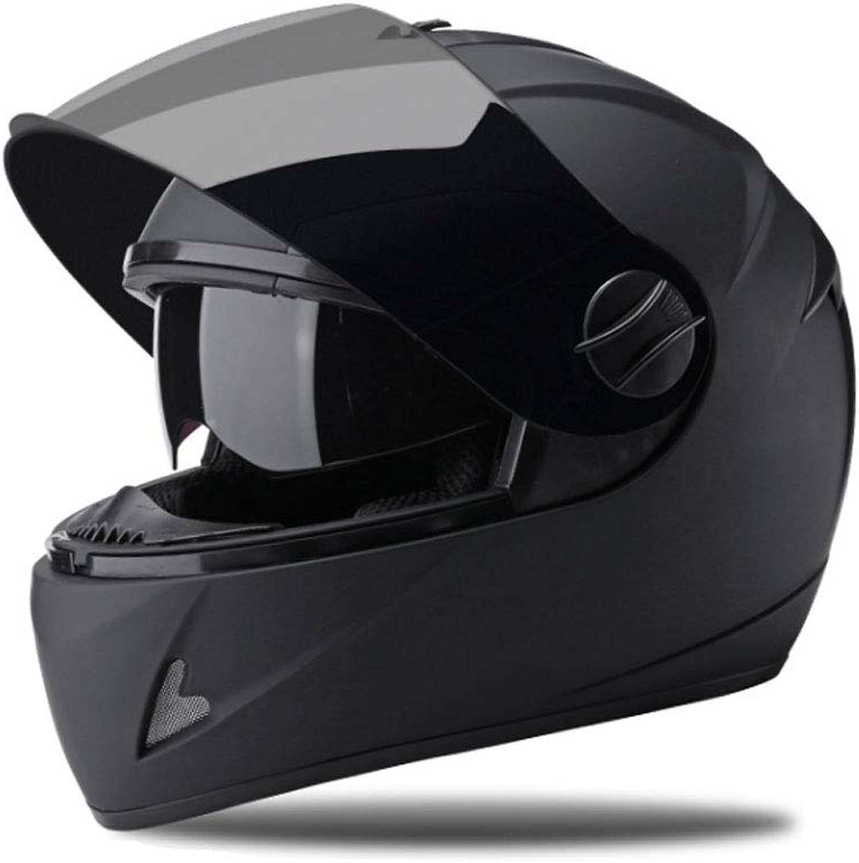 ZXW Helmet  Motorcycle Helmet Men and Women Four Seasons Universal AntiFog Tea Mirror Helmet