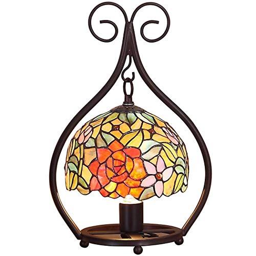 Tiffany Style Table Lamp, Pastoral Creative Retro Stained Glass Table Lights, Wohnzimmer-Liegen Lichter, Nachtlichter