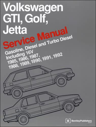Japan Maker New Volkswagen GTI Golf Finally popular brand Jetta Service 1985-1992 Manual: