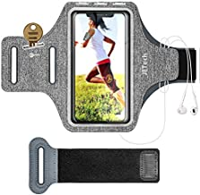 JETech Cell Phone Armband Case for Apple iPhone SE(2020)/11/11 Pro/XR/XS/X/8 Plus/7 Plus/8/7/6s/6, Samsung Galaxy S10/S9/S9+, Adjustable Band, w/Key Holder and Card Slot, for Running, Walking, Hiking
