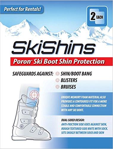 Skishins - Poron Skiing Shin Guards/Protector Pads for Shinbang/Shinbite