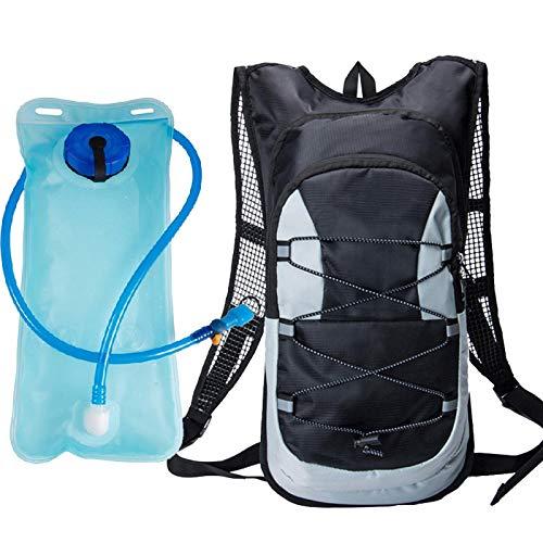WWWL Mochila de hidratación para ciclismo, impermeable, mochila de hidratación, mochila para montar en bicicleta, mochila para deportes al aire libre, accesorios para bicicleta de montaña, color negro