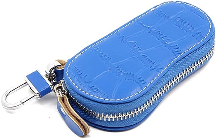 Key Case for Car Leather Keychain Key Holder Durable Thick Car Key Case Holder Key Organizer Unisex Automobile Key Fob Case Key Chain Key Case Wallet Leather Bag Keyring Pocket for Women Men
