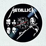 Vinywoody Reloj de Pared Disco de Vinilo con Motivos de la Banda Rock Metallica