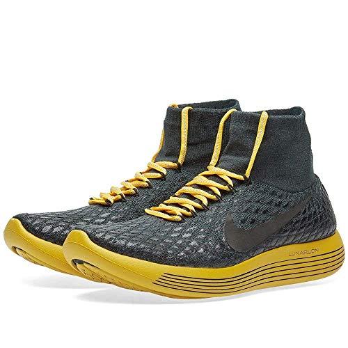 Nike Lunarepic Flyknit Shield Gyakusou Women's Running Shoe (6.5, Seaweed/White/Black/Gold Lead)