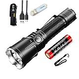 Klarus XT21X Lampe de Poche Tactique 4000 lumens / 316 mètres CREE XHP70.2 P2 LED, Lampe Torche USB Rechargeable Puissante, Avec Batterie 21700 + Lampe USB Tidusky