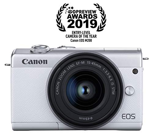 Canon EOS M200 EF-M 15-45mm is STM Kit (White)