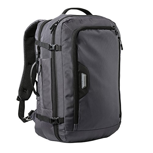 Cabin Max Tromso Carry on Luggage 55x35x20 - Padded Laptop Sleeve Within (Steel Grey)