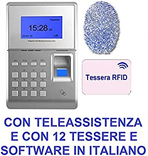 SOFTWARE ITA MARCATEMPO TIMBRACARTELLINO RILEVAZIONE PRESENZE USB TCP//IP 5 CARD