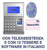 MARCATEMPO per RILEVAZIONE PRESENZE MOD. SVAR2 Finger con Lettore Tessere E Impronta Digitale, con Assistenza Software, con Software in Italiano E 12 Tessere