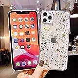 Cocomii Star Clear iPhone 12 Mini Custodia, Sottile Morbido TPU Silicone Scintillante Paillettes Bling Notte Stellata di Glitter Case Bumper Cover Compatible with Apple iPhone 12 Mini 5.4' (Gold)