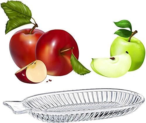 Destalya Rallador de manzanas de cristal para bebé, rallador de fruta de cristal