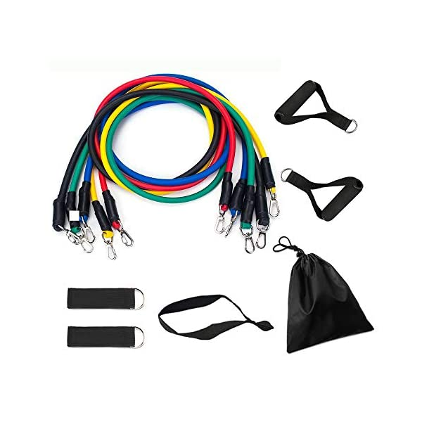 Resistance Bands Set with Stackable Exercise Bands,Non-Slip Foam Hanldes,Carry Bag,...