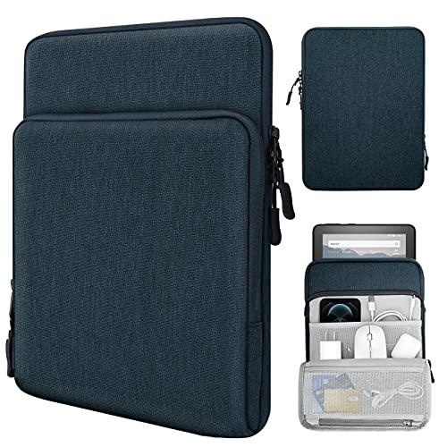 TiMOVO 8-9 Zoll Filz Tablet Hülle Kompatibel mit iPad Mini 6, iPad Mini 5/4/3/2/1, Galaxy Tab A7 Lite 8.7/Tab A 8.0/Tab A 8.4, Fire HD 8 und 8 Plus 20200, Multi Fächern Schutzhülle, Indigo