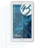 Bruni Schutzfolie kompatibel mit Archos 70c Xenon Folie, glasklare Displayschutzfolie (2X)