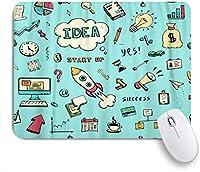 EILANNAマウスパッド 金融落書きスケッチ砂時計本矢印グラフラップトップツール ゲーミング オフィス最適 高級感 おしゃれ 防水 耐久性が良い 滑り止めゴム底 ゲーミングなど適用 用ノートブックコンピュータマウスマット