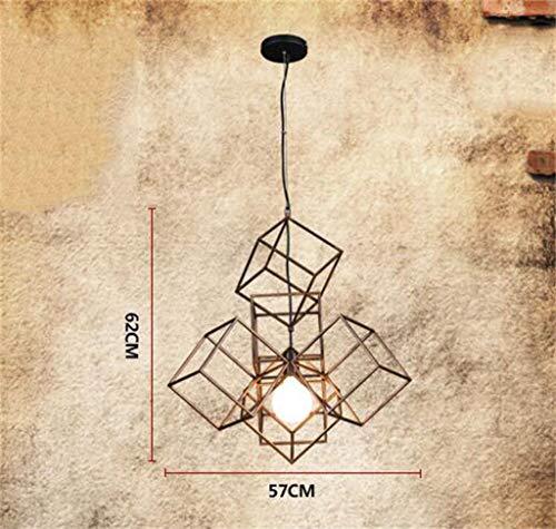 GDT Lámpara Ambiental, Hierro Birdcage Cafe Luces de la Ventana Artes Creativas Lámpara de la lámpara Barra Encofrado Eficiencia: A +++