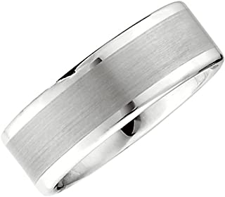 Jay Seiler Titanium Black Titanium Two Toned Edge 8mm Polished Band Size 9.5 Titanium