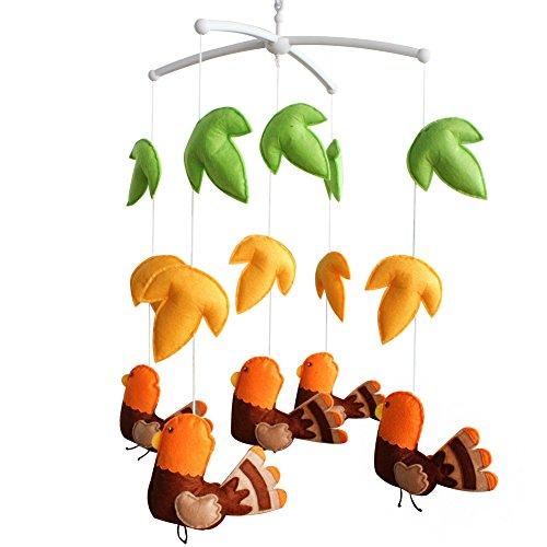 Décoration de pépinière de cadeau de jouet mobile de lit de bébé fait main pour 0-2 ans, MQ13