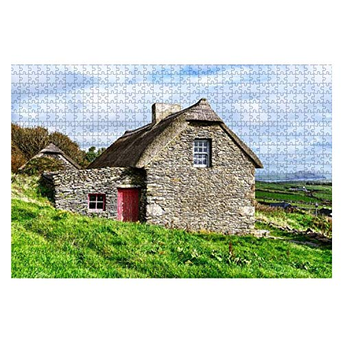 Wooden Puzzle 1000 Pieces Thatched Cottage on The Dingle Peninsula Ireland Jigsaw Puzzles for Children or Adults Educational Toys Decompression Game