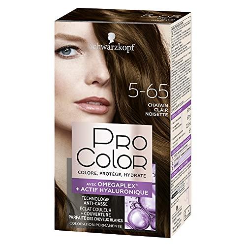 Schwarzkopf - Pro Color - Coloration Permanente Cheveux - Anti-Casse - Technologie Oméga Plex - Tenue Extra Longue Durée - Châtain Cair Noisette 5.65
