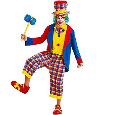Creepy Clown Men's Halloween Costume Killer Evil Circus Carnival Performer