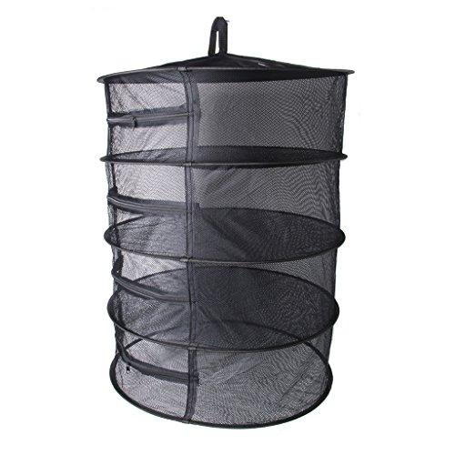 MB-LANHU Mesh Dry Net Red Plegable de 4 Capas Mesh Dry Net, Colgando Herbal Bud Plant Clothes Rack de Secado