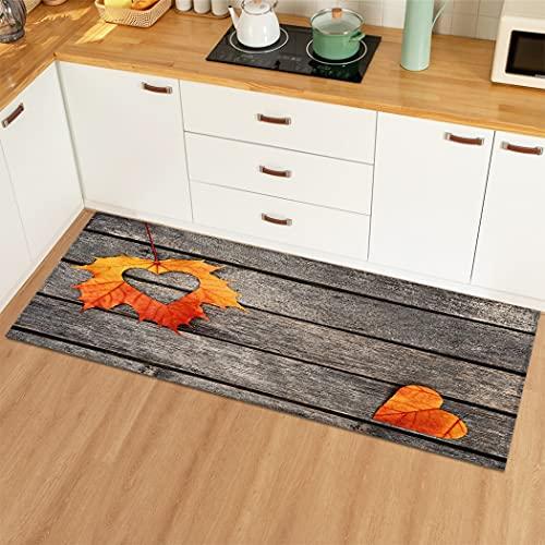Alfombra de cocina de grano de madera Alfombra de piso Alfombra antideslizante Alfombra de puerta de entrada Alfombras Alfombra en forma de corazón para el hogar Alfombra de sala de estar A3 60x180cm