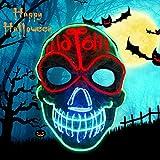 KATELUO LED Purge Maske,Purge Masken led,Tricky und gruselige Parodie Horror glühende Requisiten,Halloween Maske LED Grusel Maske,Mit DREI Blitzmodi.