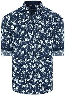 Tarocash Men's Pincay Floral Print Shirt Regular Fit Long Sleeve Sizes XS-5XL for Going Out Smart Occasionwear
