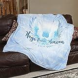 1i4 Group Hugs from Heaven Velvet Luxury Throw Blanket 50x60 Soft Sentiments Blue