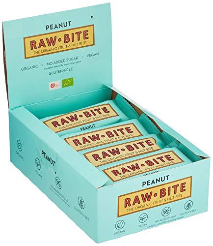 Raw Bite Rohkost Riegel Peanut, 12er Pack (12 x 50 g)