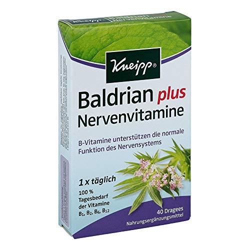 KNEIPP Baldrian plus Nervenvitamine Dragees 40 St