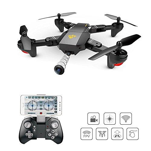 SHIRUI  Quadcopter Drone  2.4 GHz 360 ° Funzione Flip Roll Telecamera WIFI FPV 720P HD Modalità Headless, Sensore di gravità Sensore di movimento Kontrolle, Ritorno one-Key per principianti