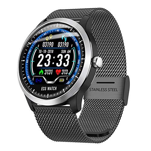 Smart Watch Men with ECG Pantalla Corazón Presión Arterial Pulsera Smart Pulsera Fitness Tracker Smart Watch,B