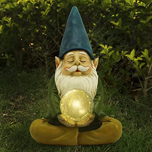 Led Solar Gartenleuchten Lichterkette Aussen Solarleuchte Garten Deko Leuchtende Zwergstatue Charakter Harz Zwerg Ornamente amerikanische Gartendekoration